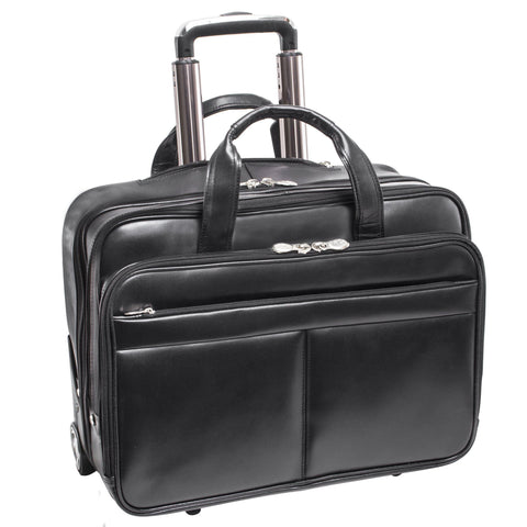 "MCKLEIN USA-MCKLEIN USA BOWERY 15"" Leather Wheeled Laptop Briefcase-bags-packs.com"