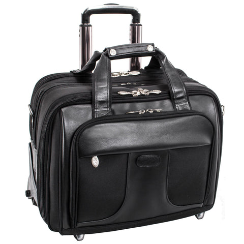 "MCKLEIN USA-MCKLEIN USA CHICAGO 15"" Nylon Patented Detachable -Wheeled Laptop Overnight with Removable Briefcase-bags-packs.com"