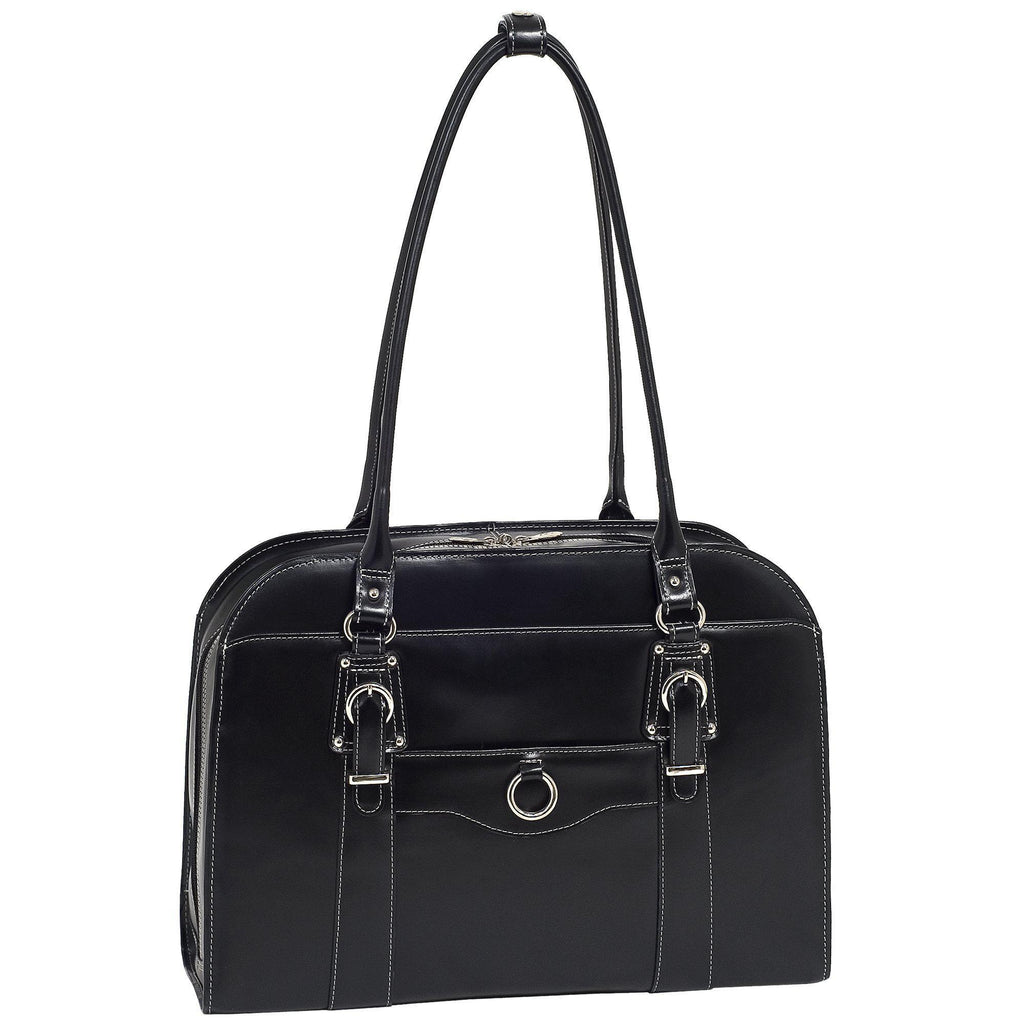 "MCKLEIN USA-MCKLEIN USA HILLSIDE 14"" Leather Ladies' Laptop Briefcase-bags-packs.com"