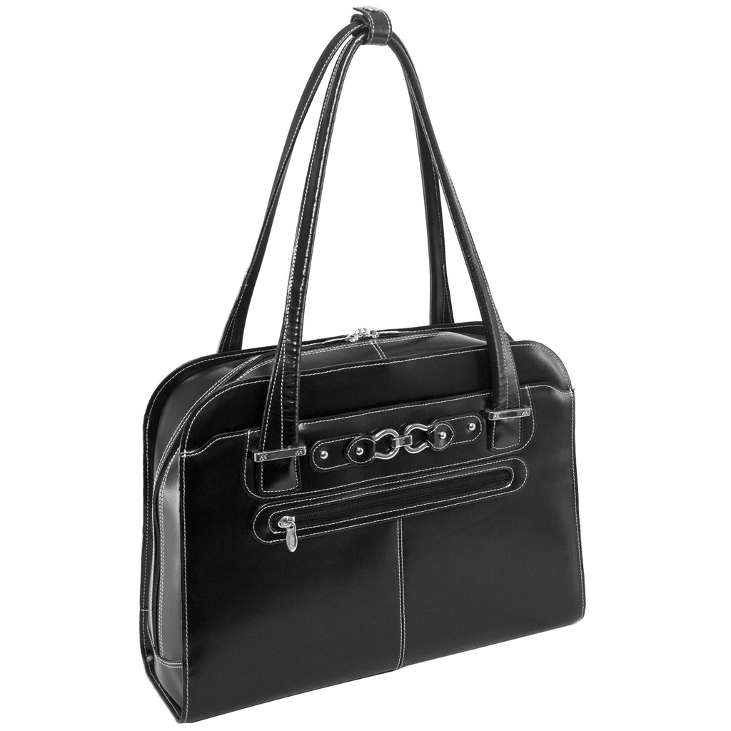 "MCKLEIN USA-MCKLEIN USA OAK GROVE 15"" Leather Fly-Through Checkpoint-Friendly Ladies' Laptop Briefcase-bags-packs.com"
