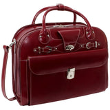 "MCKLEIN USA-MCKLEIN USA ROSEVILLE 15"" Leather Fly-Through Checkpoint-Friendly Patented Detachable -Wheeled Ladies' Laptop Briefcase-bags-packs.com"