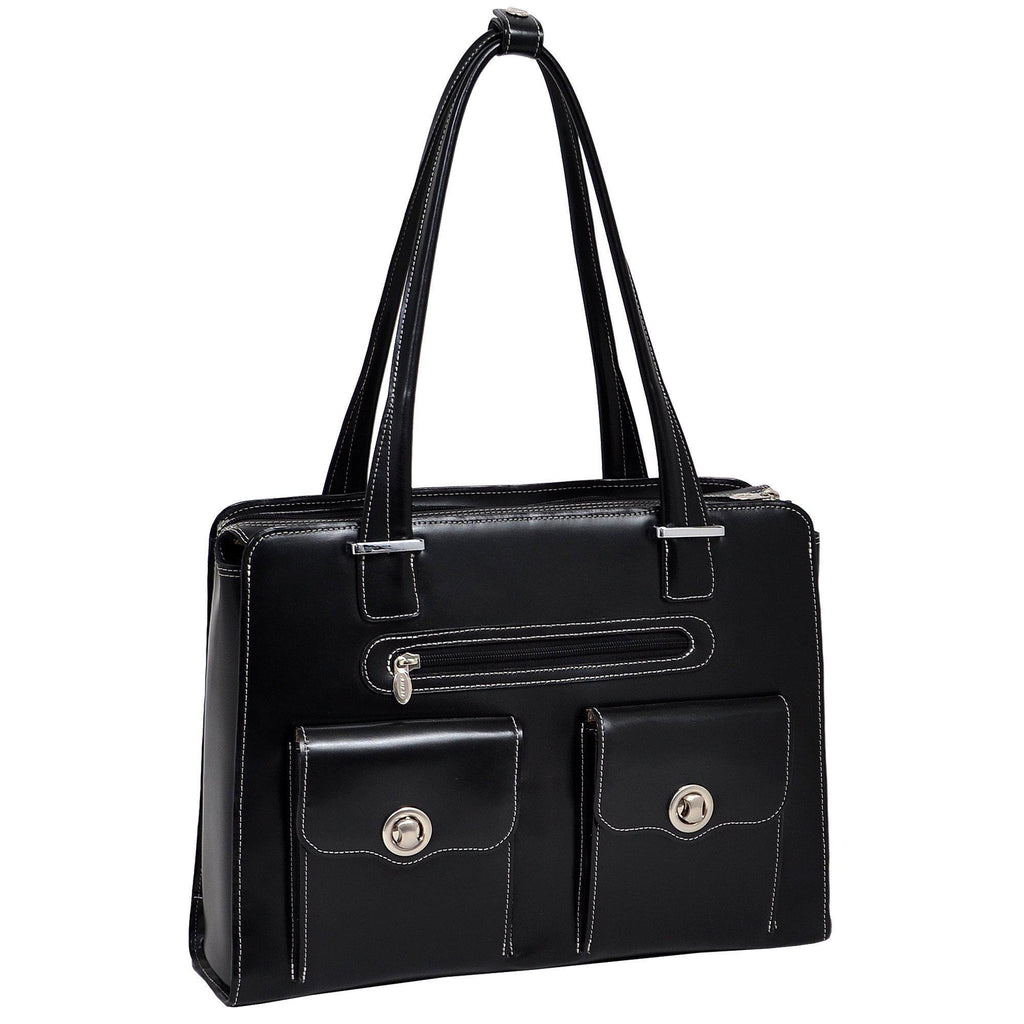 "MCKLEIN USA-MCKLEIN USA VERONA 15"" Leather Fly-Through Checkpoint-Friendly Ladies' Laptop Briefcase-bags-packs.com"