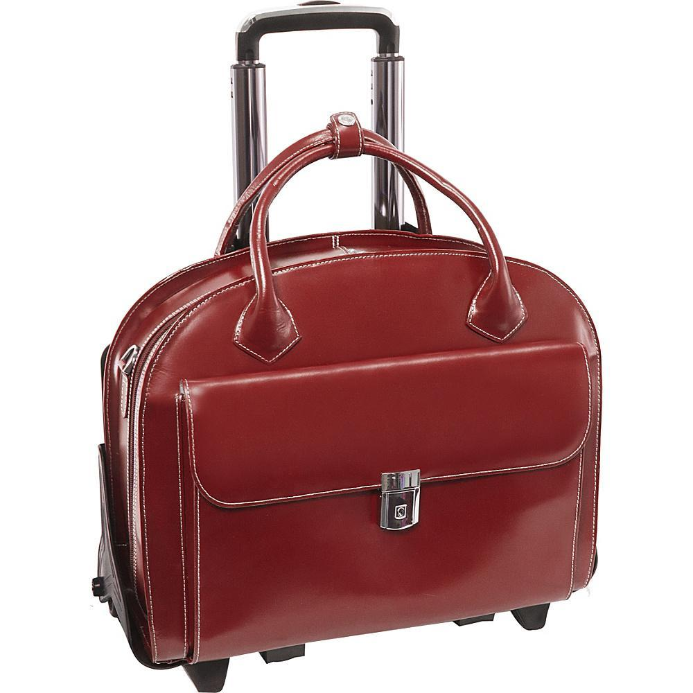 MCKLEIN USA-MCKLEIN USA W Series Glen Ellyn Leather Wheeled Laptop Case-bags-packs.com