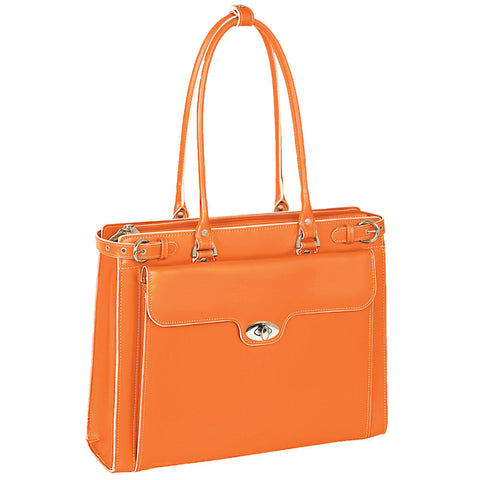 "MCKLEIN USA-MCKLEIN USA WINNETKA 15"" Leather Ladies' Laptop Briefcase w/ Removable Sleeve-bags-packs.com"