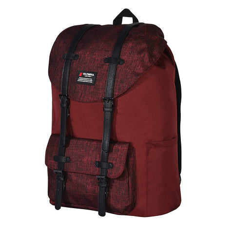 "Olympia-Olympia Cambridge 18"" Backpack, Burgundy, One Size-bags-packs.com"