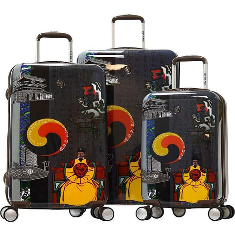 Olympia USA-Olympia USA Art 3 Piece Hardside Spinner Luggage Set-bags-packs.com