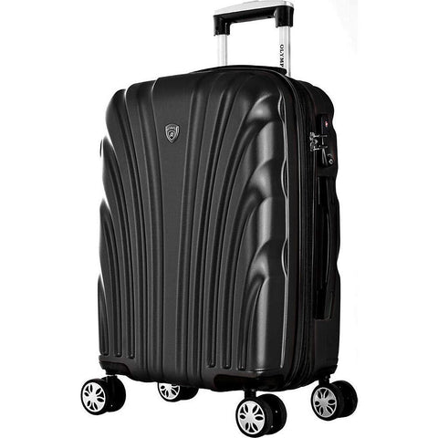 "Olympia USA-Olympia USA Vortex 21"" Expandable Hardside Carry-on Spinner Luggage (Charcoal-bags-packs.com"