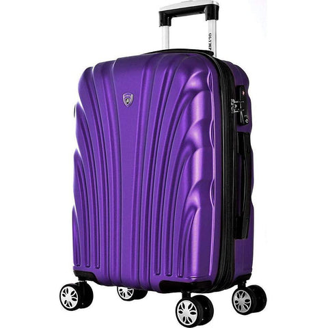 "Olympia USA-Olympia USA Vortex 21"" Expandable Hardside Carry-on Spinner Luggage (Purple)-bags-packs.com"