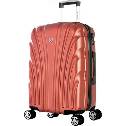 "Olympia USA-Olympia USA Vortex 24"" Expandable Hardside Checked Spinner Luggage (Pink)-bags-packs.com"
