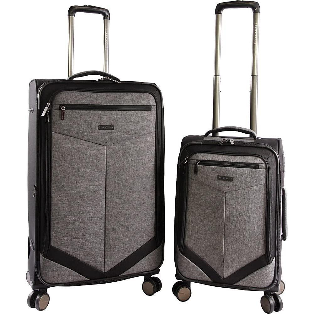 Perry Ellis-Perry Ellis Luggage Reverse 2 Piece Set Expandable Suitcase with Spinner Wheels-bags-packs.com
