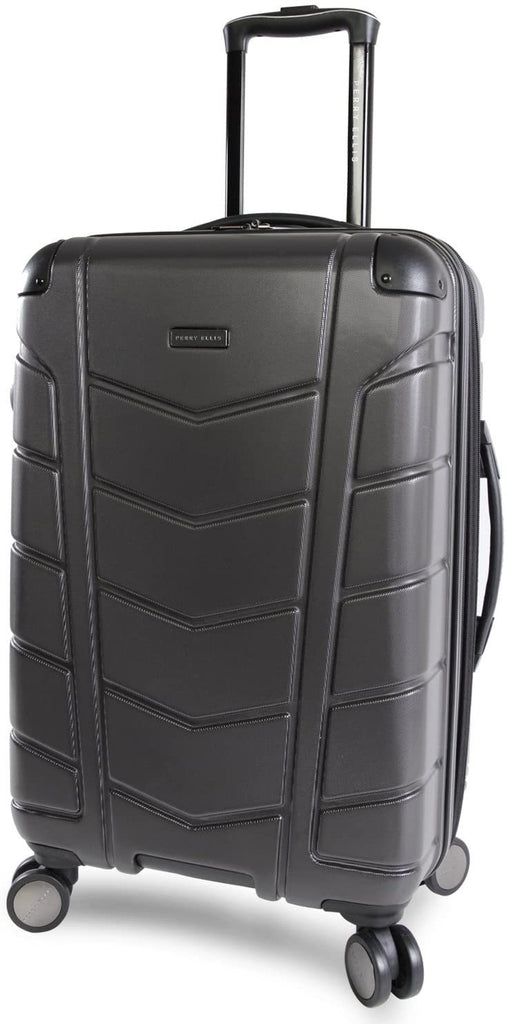 "Perry Ellis-Perry Ellis Tanner 29"" Hardside Checked Spinner Luggage-bags-packs.com"