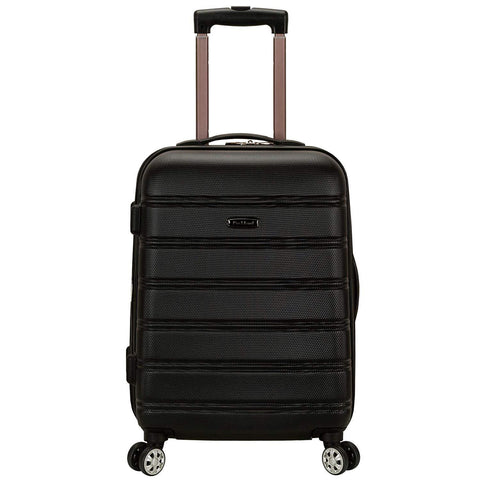 ROCKLAND LUGGAGE-ROCKLAND LUGGAGE Melbourne 20 Inch Expandable Abs Carry-On Luggage-bags-packs.com