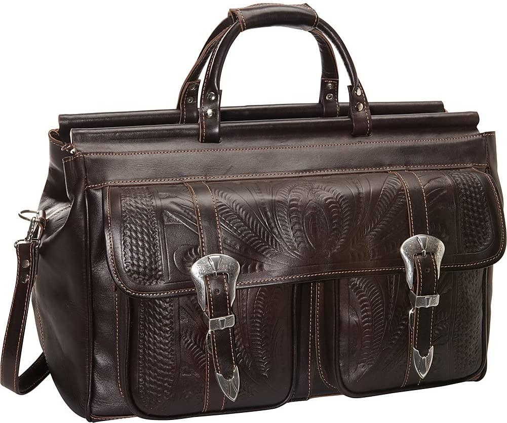 Ropin West-Ropin West 20 Inch Leather Weekender-bags-packs.com