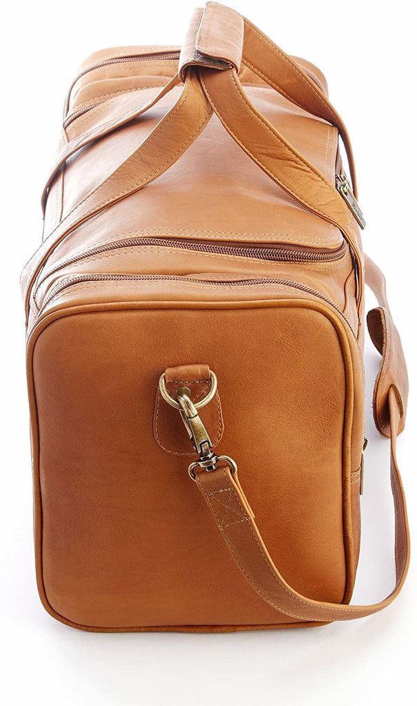 Royce Leather-Royce Leather Men's Colombian Leather Luxury Overnight Duffel Bag-bags-packs.com