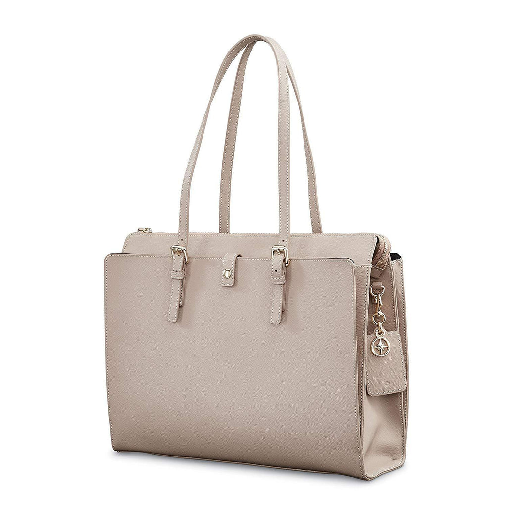 SAMSONITE-SAMSONITE Ladies Leather N/S Tote-bags-packs.com