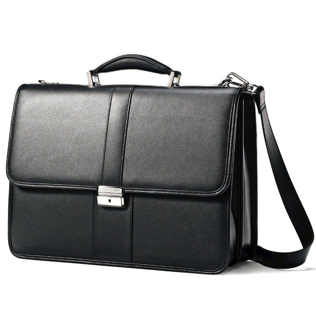 SAMSONITE-SAMSONITE Leather Flapover Case-bags-packs.com