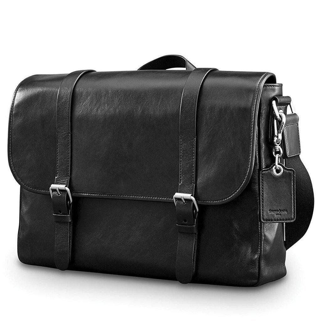 SAMSONITE-SAMSONITE Mens Leather 1910 Heritage Messenger-bags-packs.com
