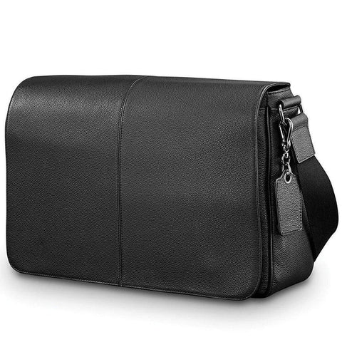 SAMSONITE-SAMSONITE Mens Leather Classic Messenger Bag-bags-packs.com