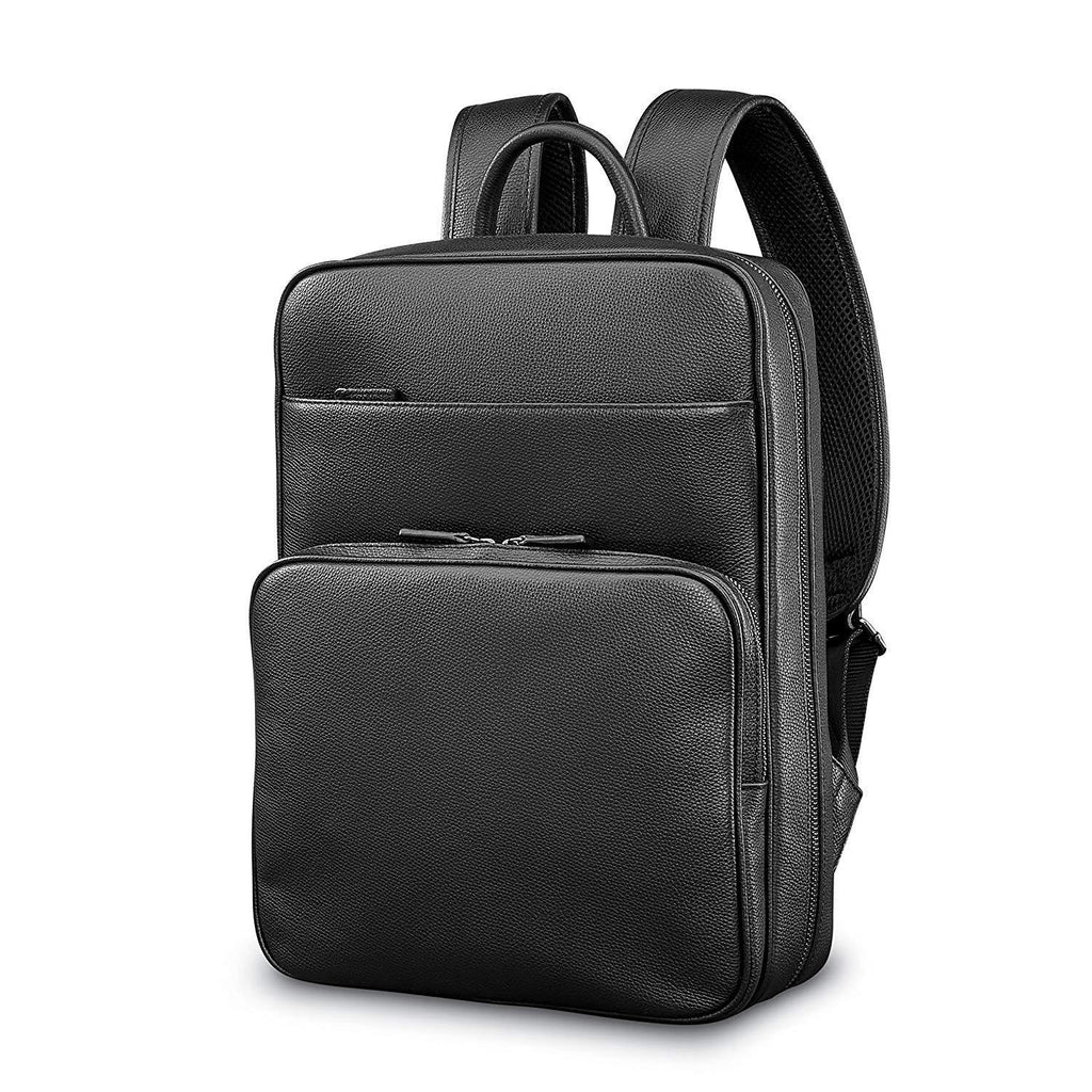 SAMSONITE-SAMSONITE Mens Leather Classic Slim Backpack-bags-packs.com