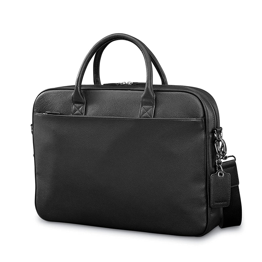 Samsonite-Samsonite Mens Leather Classic Slim Briefcase-bags-packs.com