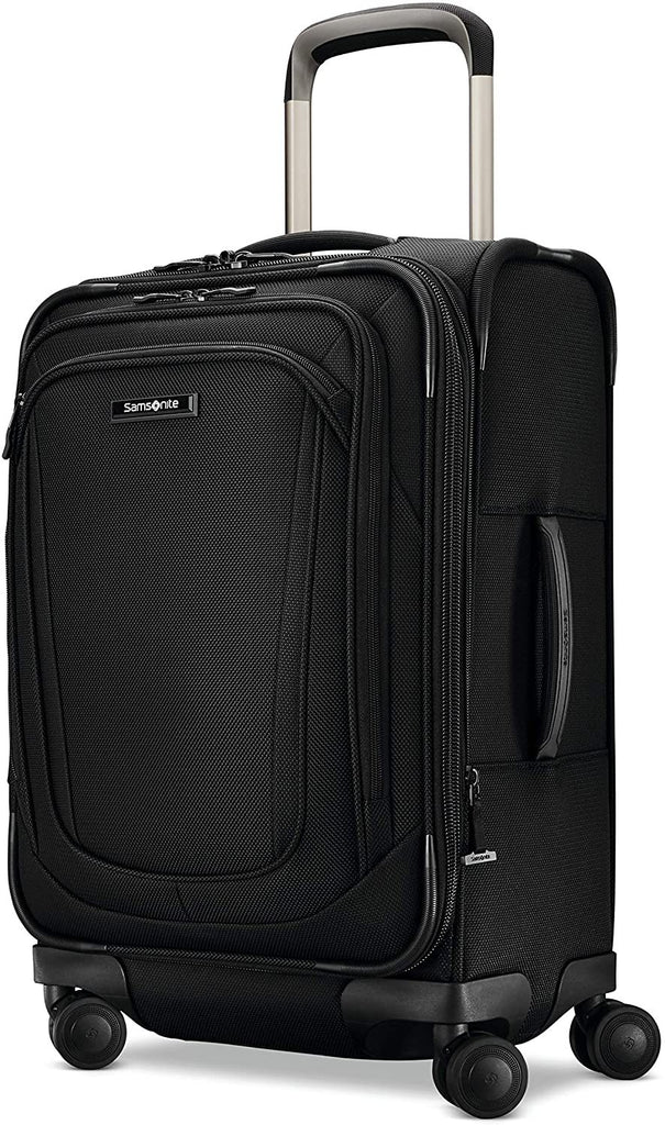 Samsonite-Samsonite Silhouette 16 Expandable Spinner Carry On (Obsidian)-bags-packs.com