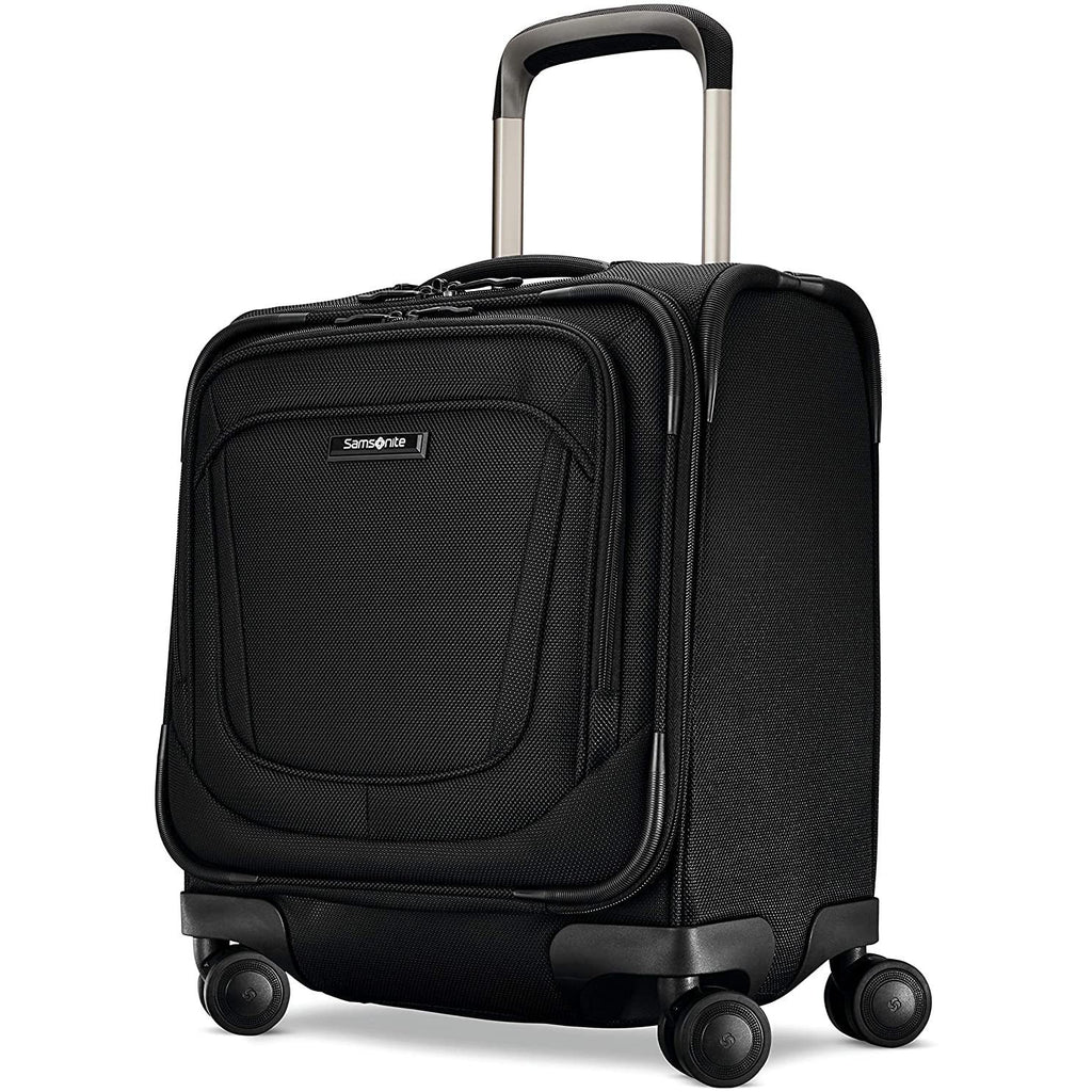Samsonite-Samsonite Silhouette 16 Underseat Spinner Carry On (Obsidian)-bags-packs.com