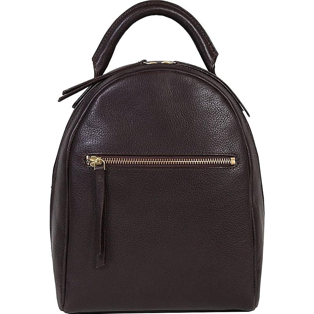 Scully-Scully Compact Glazed Calf Leather Backpack-bags-packs.com