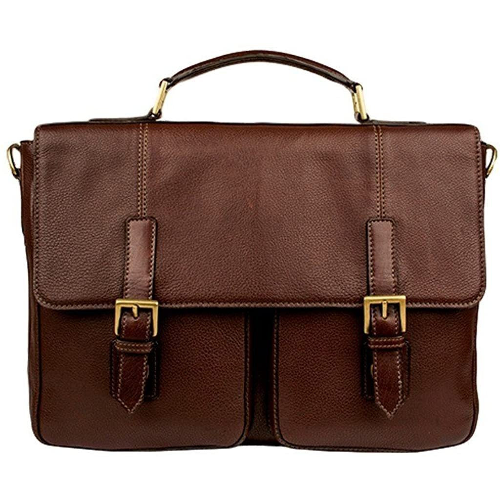 Scully-Scully Ranchero Leather Laptop/Tablet Twin Buckle Workbag-bags-packs.com
