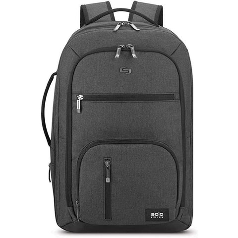 "Solo New York-Solo New York Downtown Grand TSA Carry-On Travel Backpack, Fits up to 17.3"" Laptop, Grey-bags-packs.com"