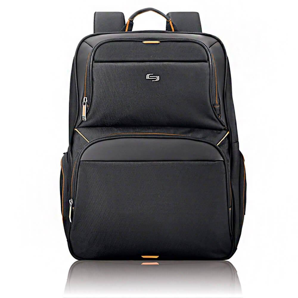 "SOLO-Solo UBN7014 Urban Backpack, 17.3"", 12 1/2"" x 8 1/2"" x 18 1/2"", Black-bags-packs.com"