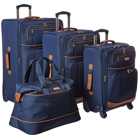 Tommy Bahama-Tommy Bahama Lightweight Luggage Set - 4 Piece Suitcase Set with Spinner Wheels - 28 Inch, 24 Inch, Carry On, Duffle Bag-bags-packs.com