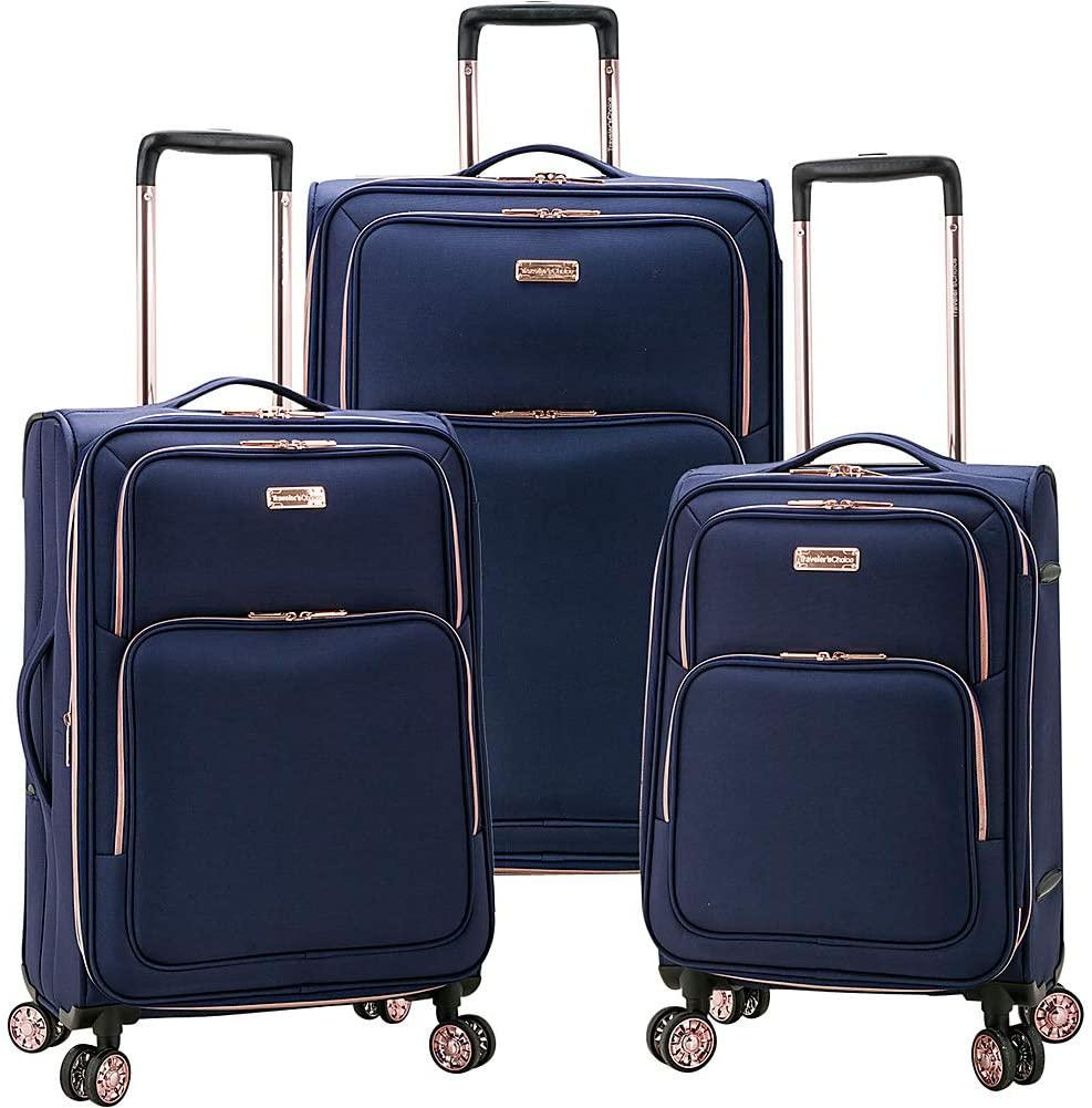 Traveler's Choice-Traveler's Choice Fashion 3-Piece Spinner Luggage Set-bags-packs.com