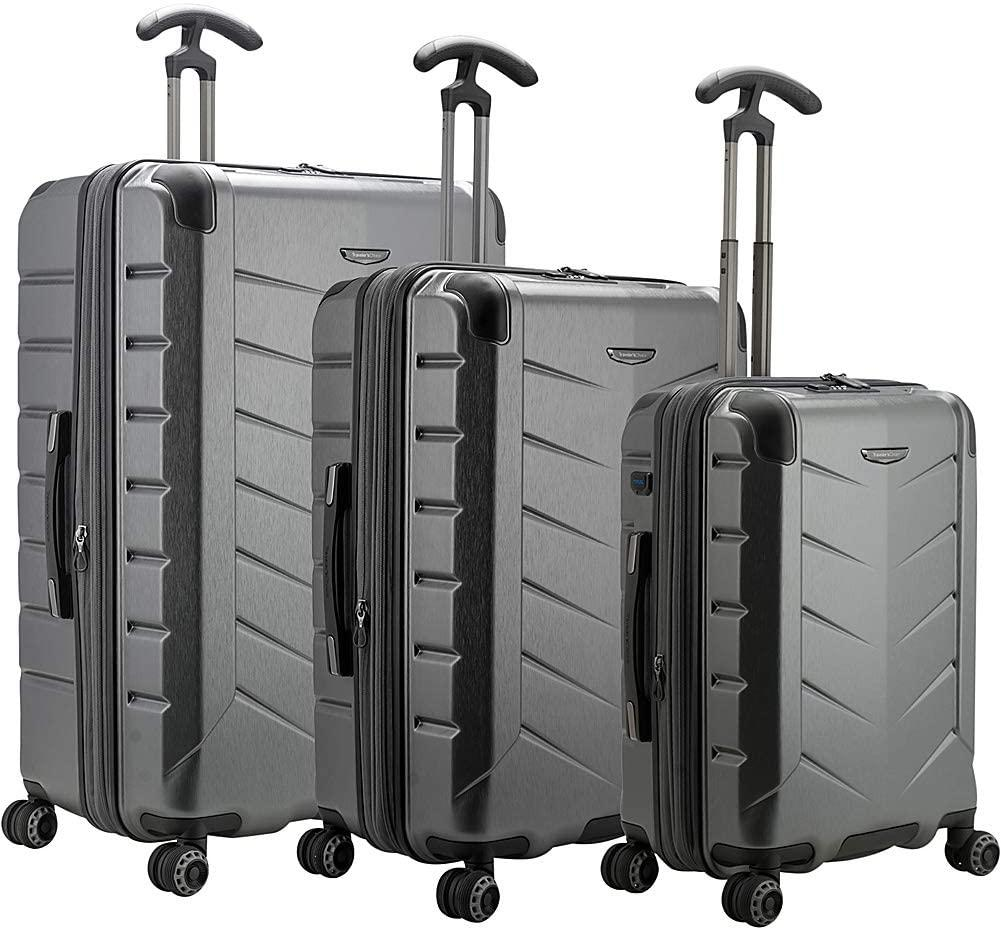 Traveler's Choice-Traveler's Choice Silverwood II 100% Polycarbonate Expandable 3-Piece Luggage-bags-packs.com