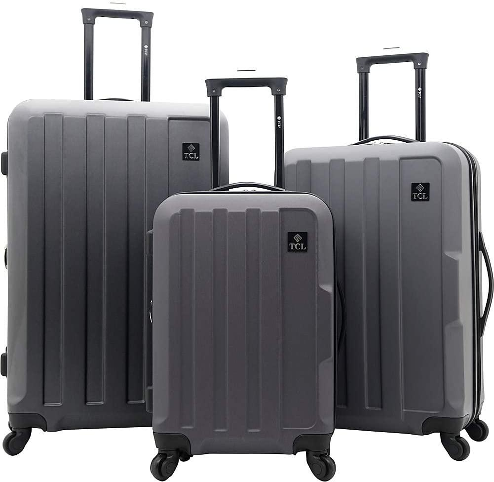 Travelers Club-Travelers Club Luggage Albany Collection 3 Piece Expandable Rolling Hardside-bags-packs.com