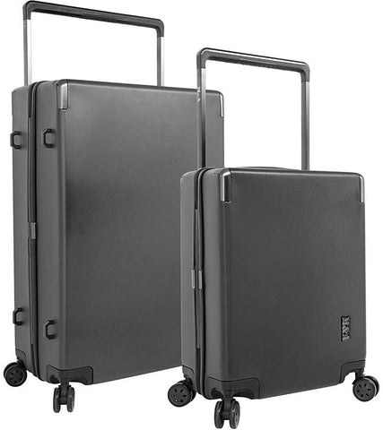 Traveler's Club-Travelers Club Luggage M&A Toulouse 2 Piece Hardside Spinner Luggage Set (Black)-bags-packs.com