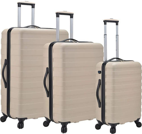 U.S. Traveler-U.S. Traveler Bondi 3-Piece Spinner Luggage with Smart USB Port-bags-packs.com