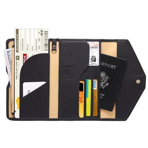 ZOPPEN-ZOPPEN Multi-Purpose RFID Blocking Travel Passport Wallet 15+ Colors-bags-packs.com
