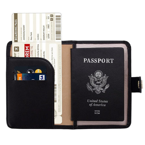 ZOPPEN-ZOPPEN RFID Blocking Travel Passport Holder Cover 15+ Colors-bags-packs.com