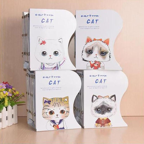 Cute Cat Desktop Storage Bookshelf
