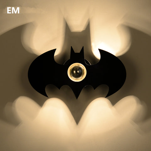 Black Bat Wall Light