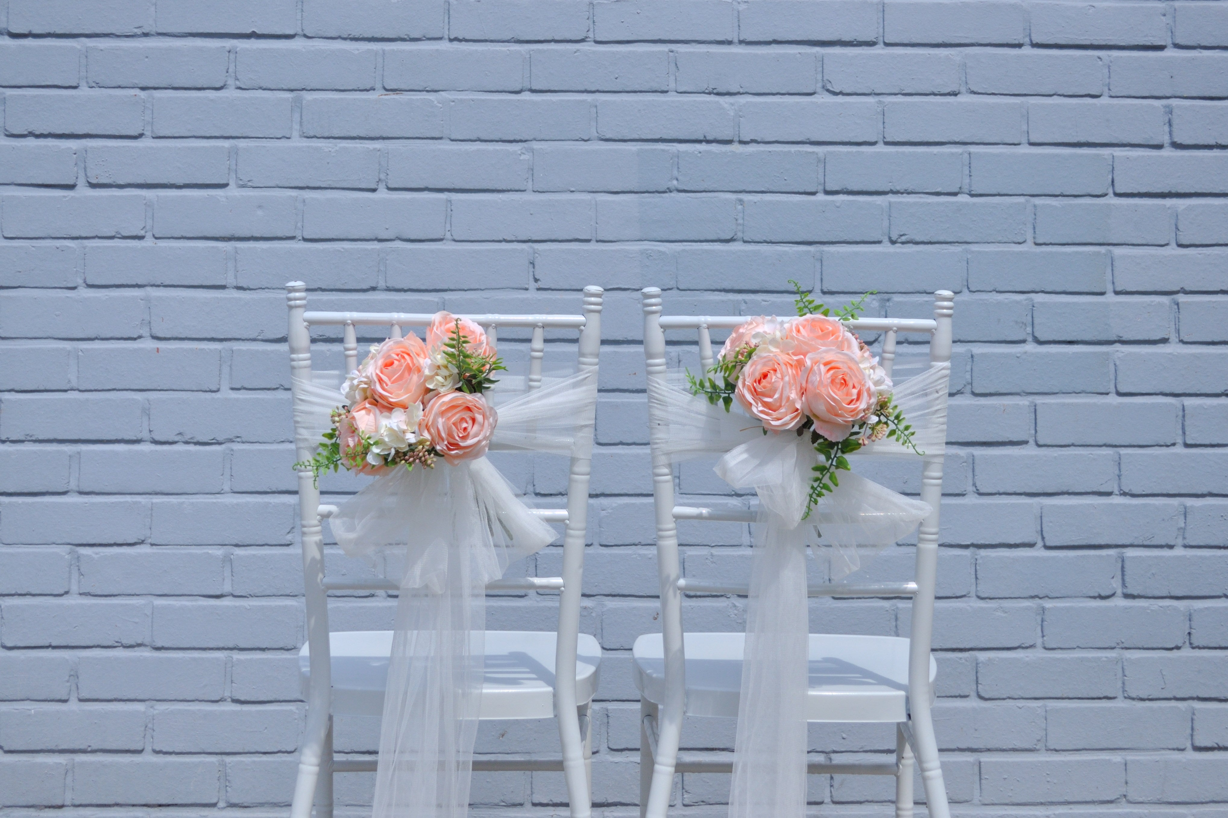 Roses & Hydrangea Pew / Chair Decoration