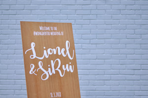 Customised Wedding Signage