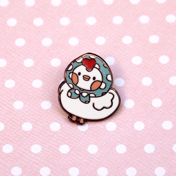 Babushka Chicken Pin