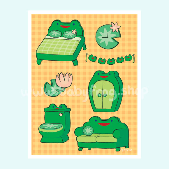 Froggy Furniture Print - 5x7
