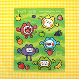 Fruit Bat Sticker Sheet
