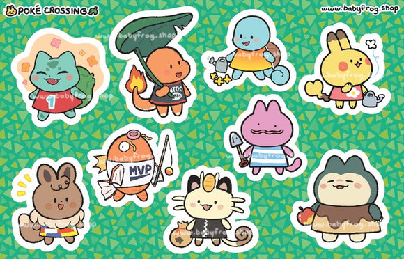 Poké Crossing Sticker Sheet - PREORDER
