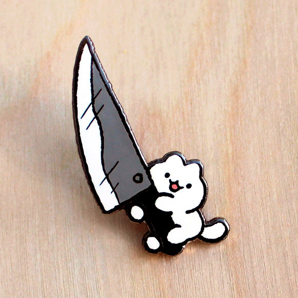 Knife Cat Pin