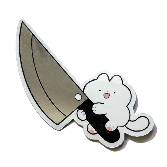 Knife Cat Sticker 2.0