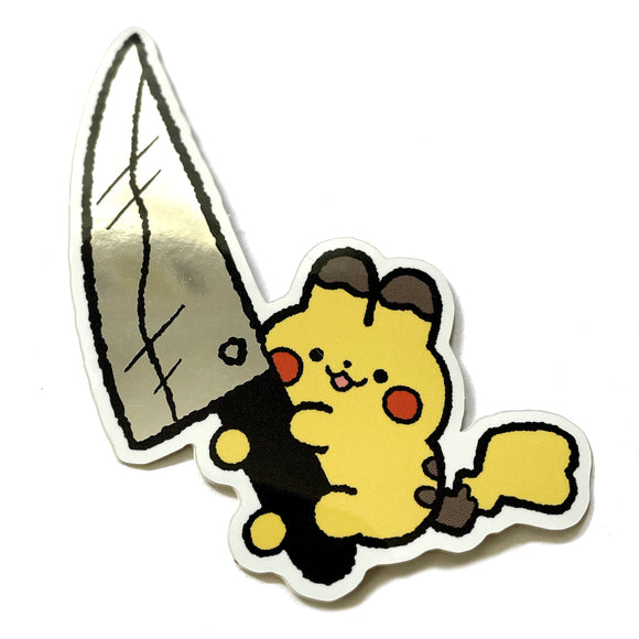 Knife Pika Sticker