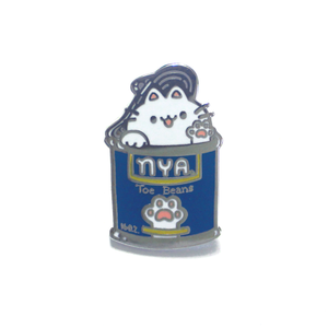 Toe Beans Cat Pin